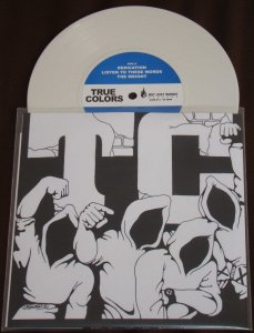 true colors record release 7 inch vinyl white