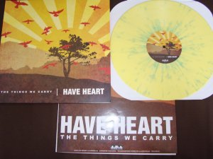 have heart the things we carry lp yellow splatter second press bridge 9