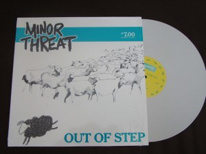 minor threat out of step lp white vinyl dischord