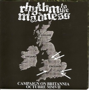 rhythm to the madness uk united kingdom tour cover powered records 7 inch vinyl