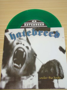 hatebreed under the knife 7 inch green vinyl