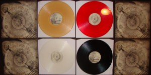 trapped under ice lp first press colors black gold red clear reaper records gatefold