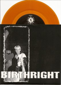 birthright catalyst 7 inch cover gold vinyl