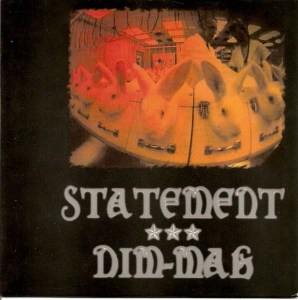 statement dim mak split 7 inch cover split vinyl surrounded records