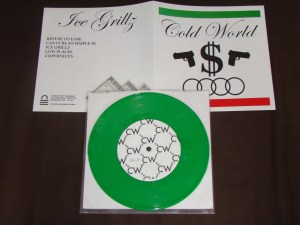 cold world ice grillz green 7 inch lockin out records vinyl