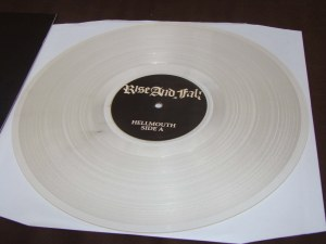 rise and fall original 1st press first hellmouth CLEAR vinyl anger management