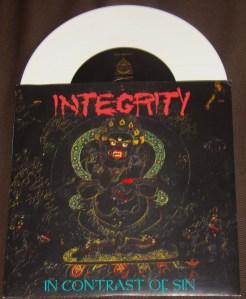 integrity in contrast of sin 7 inch white dark empire records