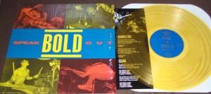 bold speak out LP yellow vinyl color revelation records repress final