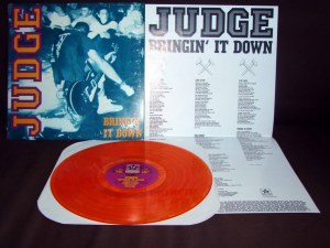 judge bringin it down orange repress LP revelation records vinyl final press nyhc