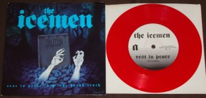 The Icemen rest in peace the harsh truth 7 inch red vinyl color nyhc blackout! records