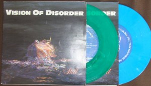 vision of disorder nyhc still 7 inch original striving for togetherness blue green color vinyl
