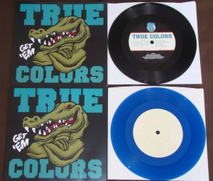 true colors get em demo 7 inch versions blue black i drink milk records
