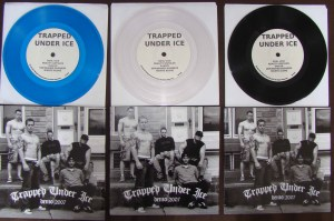 trapped under ice demo 2007 colors blue clear vinyl flatspot records 1st press
