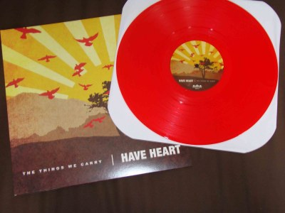 have heart the things we carry LP red vinyl bridge 9 records