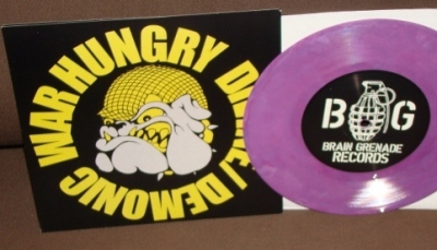 war hungry devine demonic colored vinyl solid purple limited brain grenade pressing info