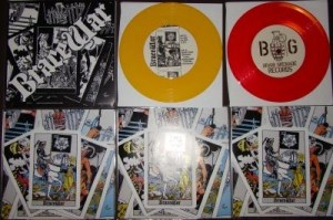 bracewar st version pressing info brain grenade records red yellow black white cover colored covers