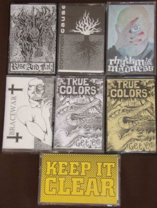 bracewar demotape true colors demotape rise and fall rhythm to the madness common cause demo cassettes