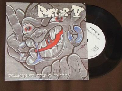 fury of five 7 inch telling it like it is inner rage records vinyl