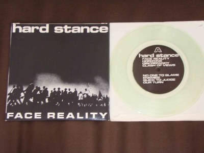 hardstance face reality clear vinyl workshed records against the machine