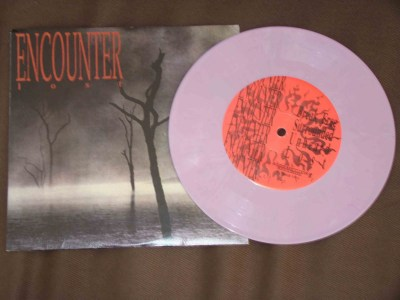 encounter lost 7 inch lilac colored 90s vinyl