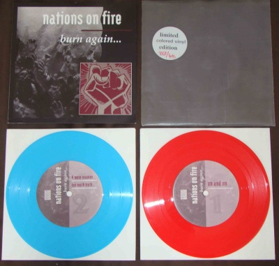 nations of fire burn again colored numbered pressing strive music red blue double 7 inch