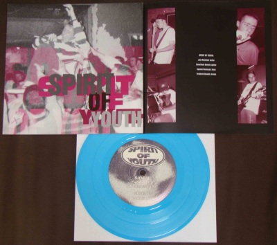 spirit of youth 7 inch blue vinyl st abyss crucial response second press record vinyl h8000