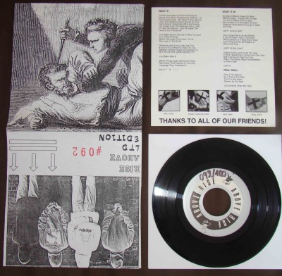 rise above st 7 inch limited cover numbered 100 copies beat it the real deal H8000 straight edge Belgium