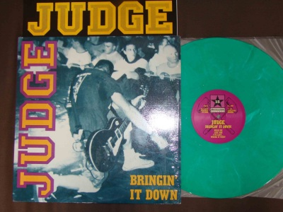 judge bringin it down green vinyl revelation records first press nyhc