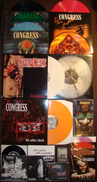 congress discography collection blackened persistance the other cheek ressurection stake through the heart LP CD 7 inch Euridium colored vinyl