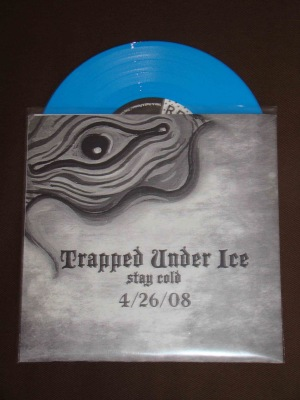 trapped unde ice stay cold blue vinyl record release version 7 inch