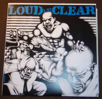 loud and clear LP limited cover blue lettering powered records