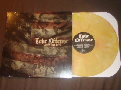 take offense tables will turn LP yellow vinyl reaper records