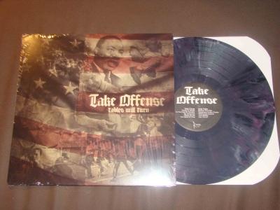 take offense tables will turn LP purple vinyl chula vista hardcore reaper records