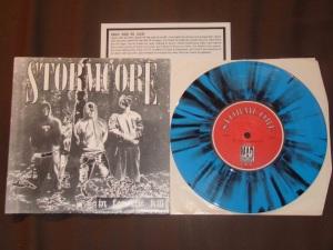 stormcore in for the kill 7 inch color blue black splatter vinyl Mad Mob records kds france