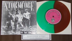 stormcore in for the kill 7 inch color green brown split vinyl Mad Mob records kds france