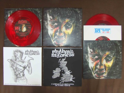 rhythm to the madness 7 inch collection covers colors powered records
