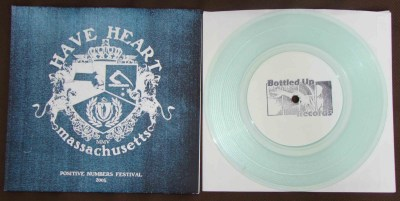 have heart demo posi numbers 2005 edition clear vinyl bottled up records stamp