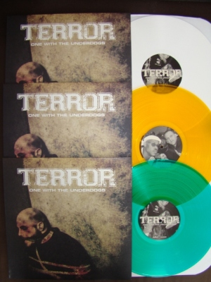 terror one with the underdogs LP white gold green vinyl bridge nine records