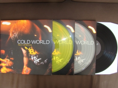 cold world no omega LP 1917 records original press yellow clear black vinyl