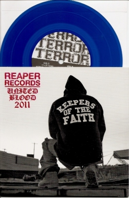 terror keepers of the faith 7 inch united blood stamp limited reaper records