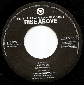 rise above punk etc 7 inch play it again sam records vinyl label mispress