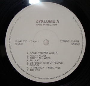 zyklome A punk etc vinyl LP label side b