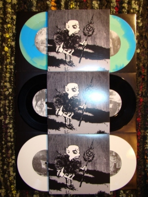 integrity rot in hell split 7 inch color white black green blue limited tdon press thirthy days of night