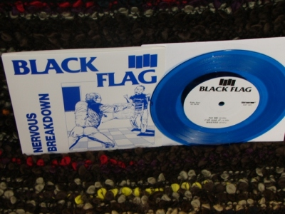 black flag nervous breakdown SST records 7 inch vinyl blue