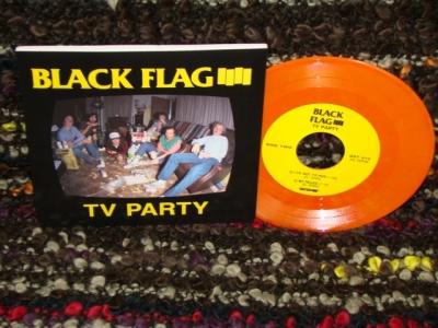 black flag TV party 7 inch orange vinyl SST records