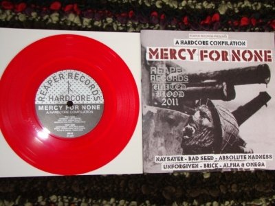 various mercy for none compilation reaper records red vinyl united blood stamp