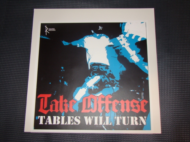 take offense tables will turn LP testpress cover reaper records