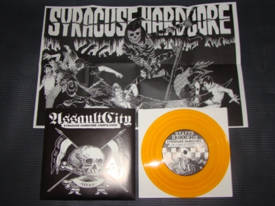 various assault city hardcore compilation gold vinyl reaper records