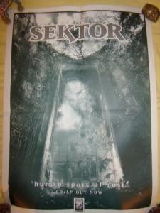 sektor human spots of rust lp promo poster