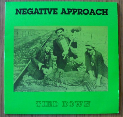 negative approach tied down lp vinyl cover